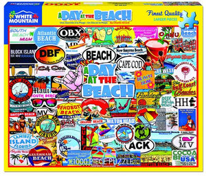 A Day At The Beach - 1000 Piece Jigsaw Puzzle