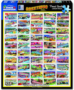 State Greetings Stamps - 1000 Piece Jigsaw Puzzle