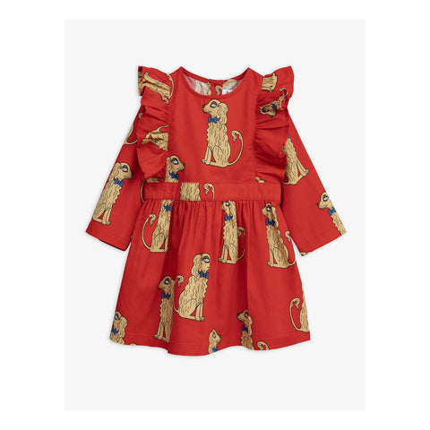 MINI RODINI Spaniel Woven Ruffle Dress
