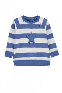 Belly Button Star Striped Sweatshirt