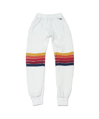 AVIATOR NATION KID'S MOTO STRIPE SWEATPANTS - WHITE // RED STRIPES
