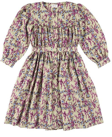 MORLEY Carol Ikat Grape Girls Dress