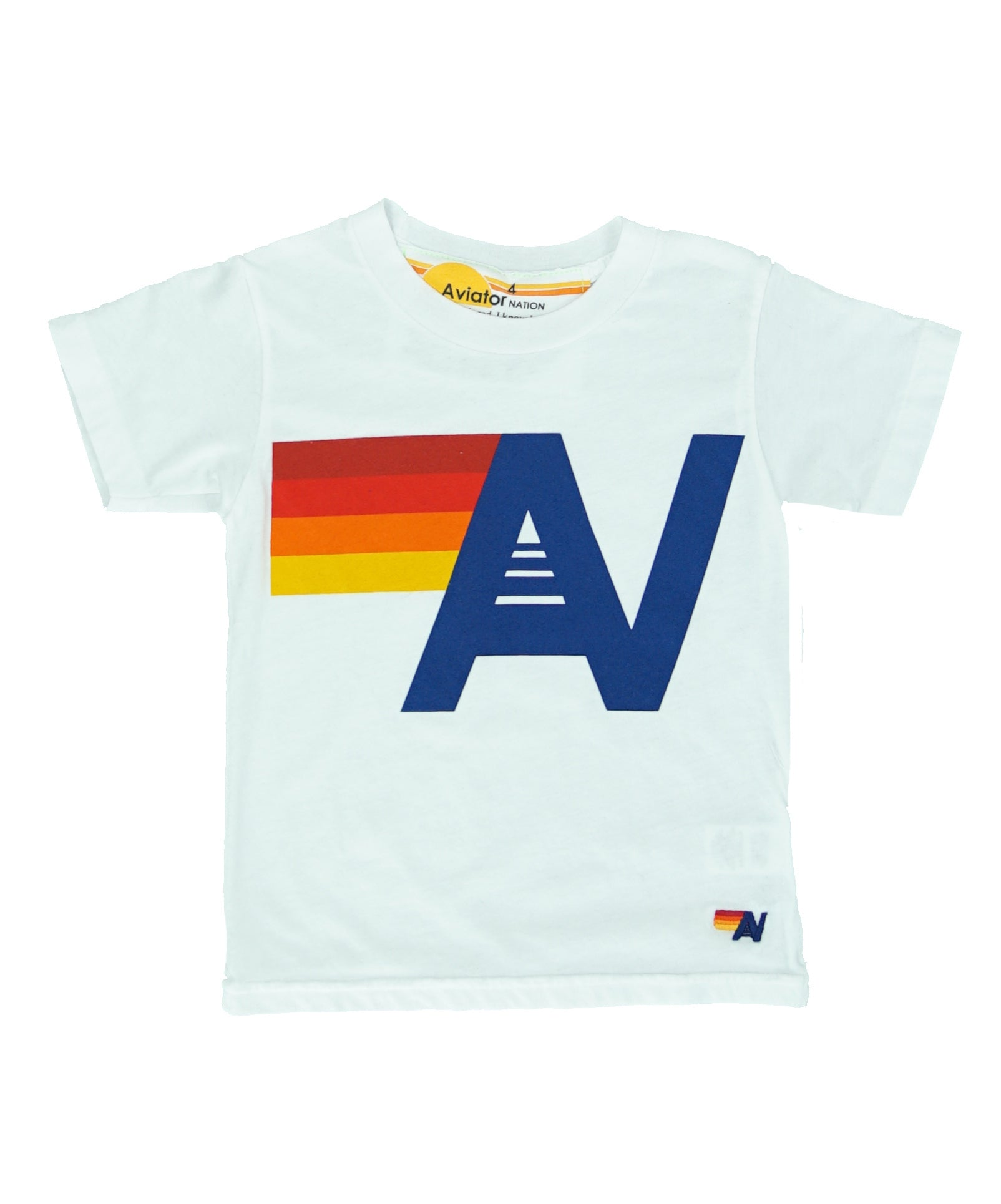AVIATOR NATION KID'S LOGO TEE - WHITE
