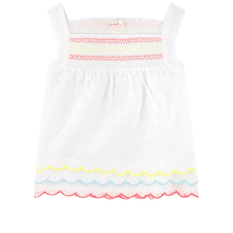 Billieblush Girls White Smocked Top