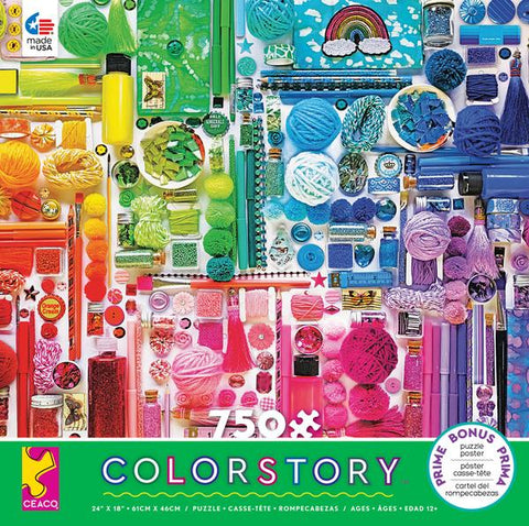 COLORSTORY - RAINBOW - 750 PIECE PUZZLE