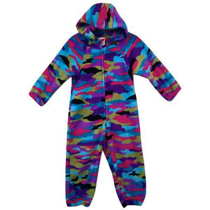 "Fuzzy Flurry Multi Colored ""Funky Camo"" Onesie"