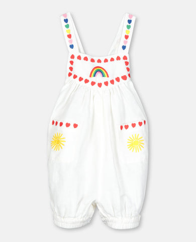 Stella McCartney Hearts Embroidery Linen Jumpsuit