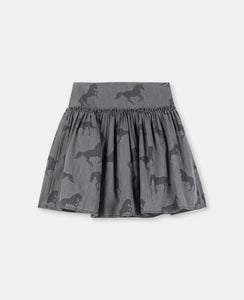 Stella McCartney - Horses Chambray Skirt