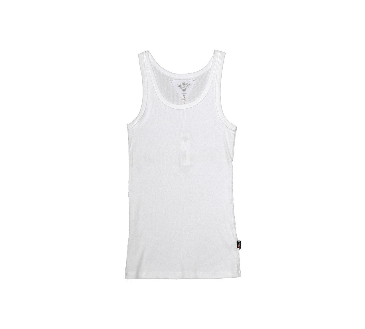 T2LOVE 2X1 RIB MODAL BEATER TANK TOP - WHITE