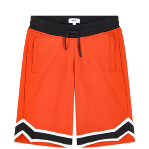 BOSS KIDSWEAR notched drawstring shorts