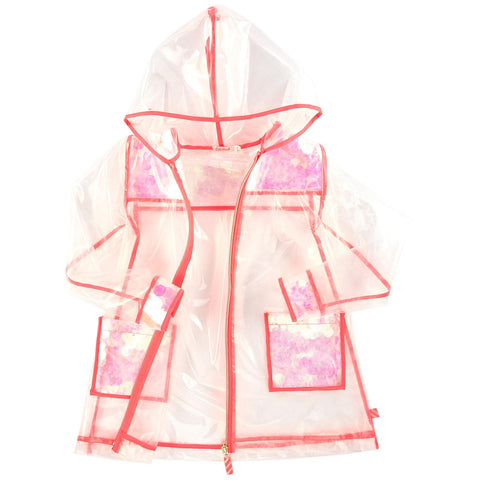Billieblush Transparent Sequin Raincoat