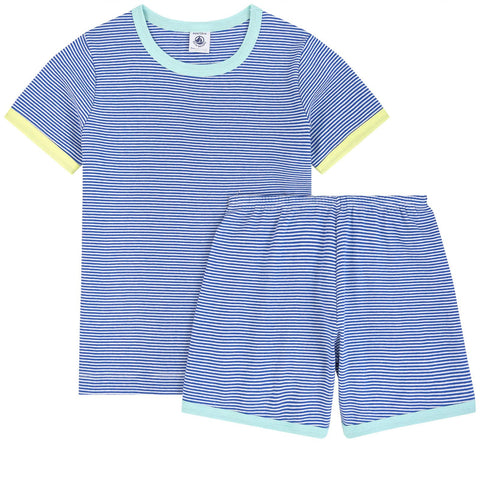 PETIT BATEAU Striped two-piece pajamas - Stripes