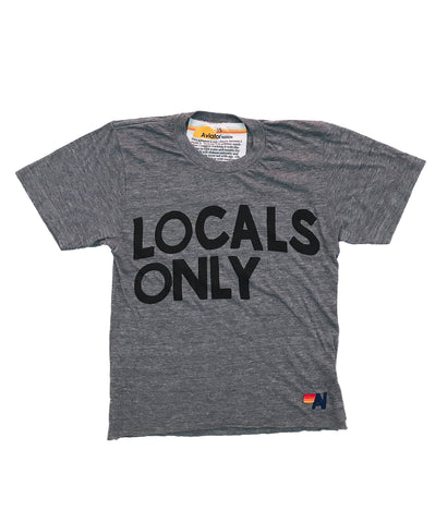 Aviator Nation  LOCALS ONLY BOYFRIEND TEE - VINTAGE CHARCOAL