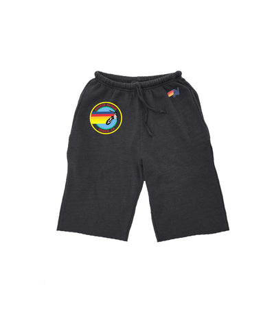 AVIATOR NATION KIDS SWEATSHORTS - CHARCOAL