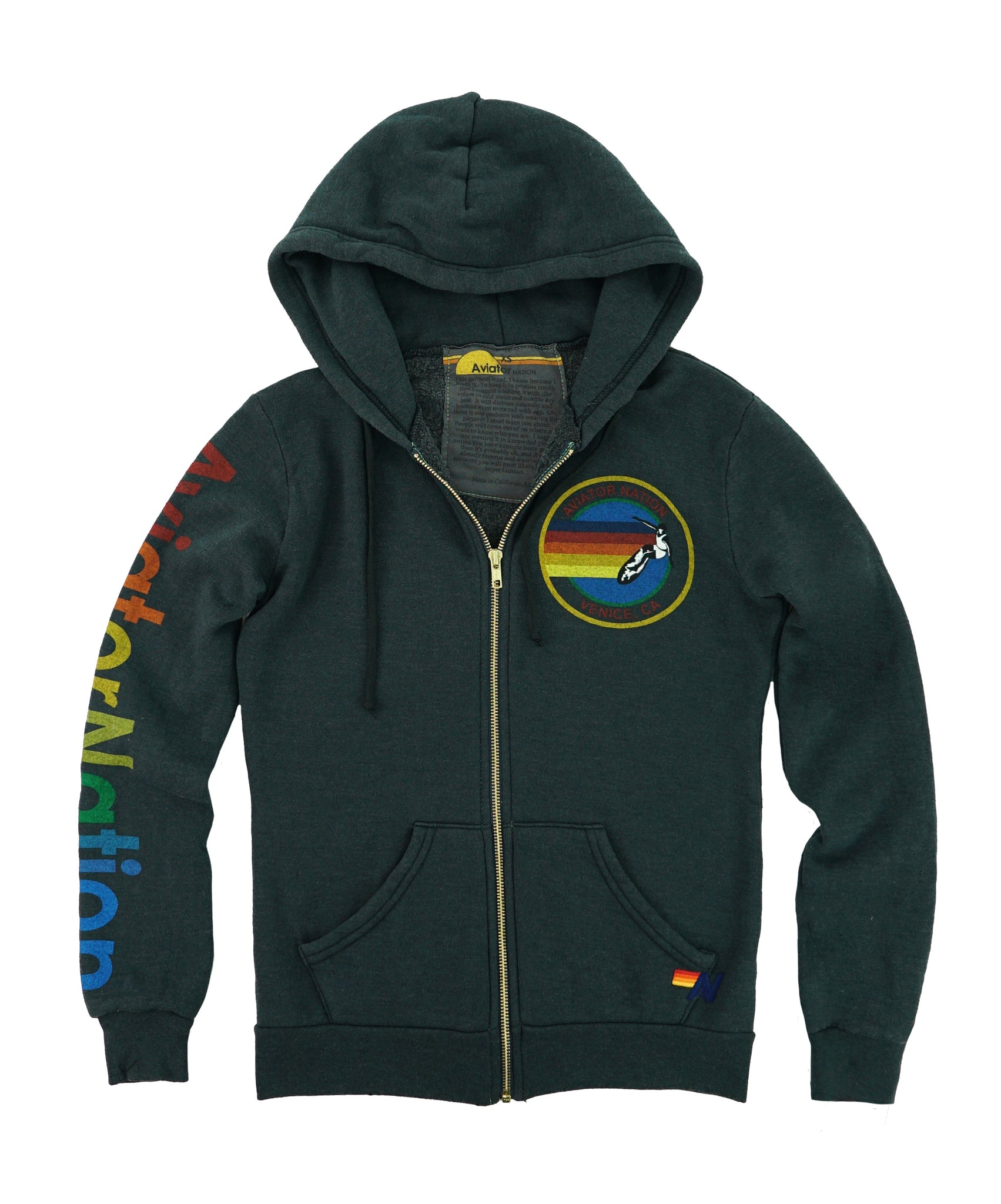 Aviator Nation Charcoal Logo Hoodie