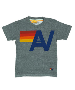 AVIATOR NATION KID'S LOGO TEE - HEATHER GREY
