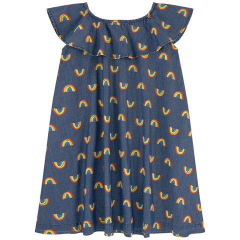 Stella McCartney Kids Rainbow Chambray Dress