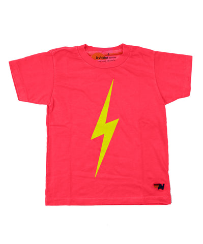 Aviator Nation Kids Bolt Tee - Neon Red