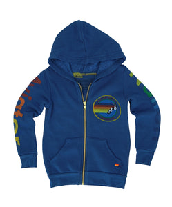 KID'S AVIATOR NATION ZIP HOODIE - ROYAL