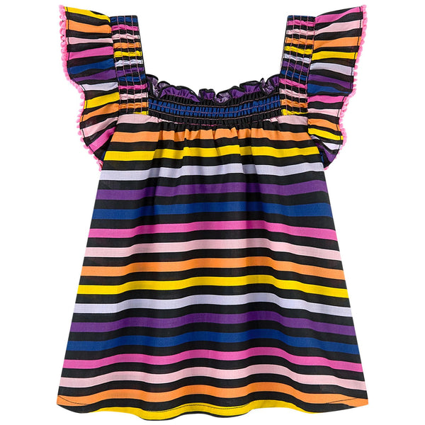 Sonia Rykiel Paris Multicolored Striped Blouse
