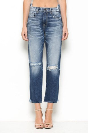 HIDDEN Junior Girls Denim Cropped Jeans