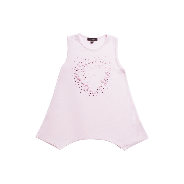 Imoga Beth Girls Tunic Top - Pale Pink Heart