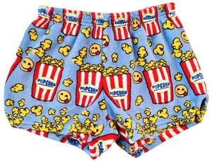 LIGHT BLUE EMOJI POPCORN BOXER SHORTS