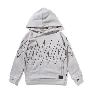 MUNSTER KIDS Hooded Sweatshirt with Lightning Bolts