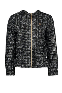 LE CHIC Girls Tweed Zip Jacket