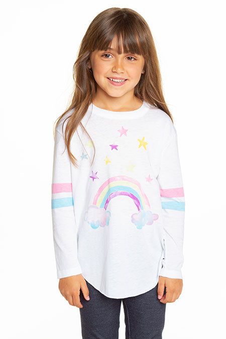 CHASER Girls Long Sleeve Rainbow Tee