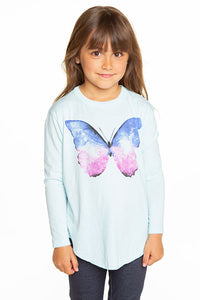 CHASER Girls Long Sleeve Butterfly Tee