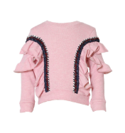 KINDERKIND Girls Pink Ruffle Sweater