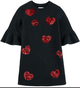 SONIA RYKIEL Girls Delphine Dress with Hearts
