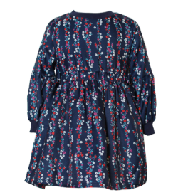 KINDERKIND Girls Long Sleeve Floral Dress