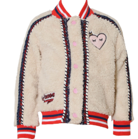 KINDEKIND Girls Long Sleeve Heart Jacket