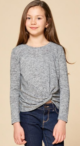 FOR ALL SEASONS Girls Long Sleeve Top with Front Loop