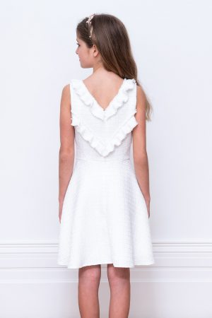 David Charles Ivory Tweed Dress