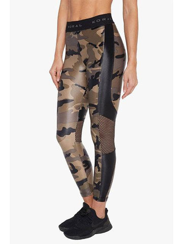 Koral Emblem Infinity High Rise Legging - Camo with Black