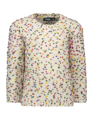 FLO Girls Sweater with Confetti Detail