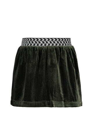 FLO Girls Green Velour Skirt
