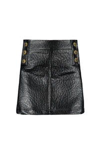 FLO Girls Leather Skirt with Buttons