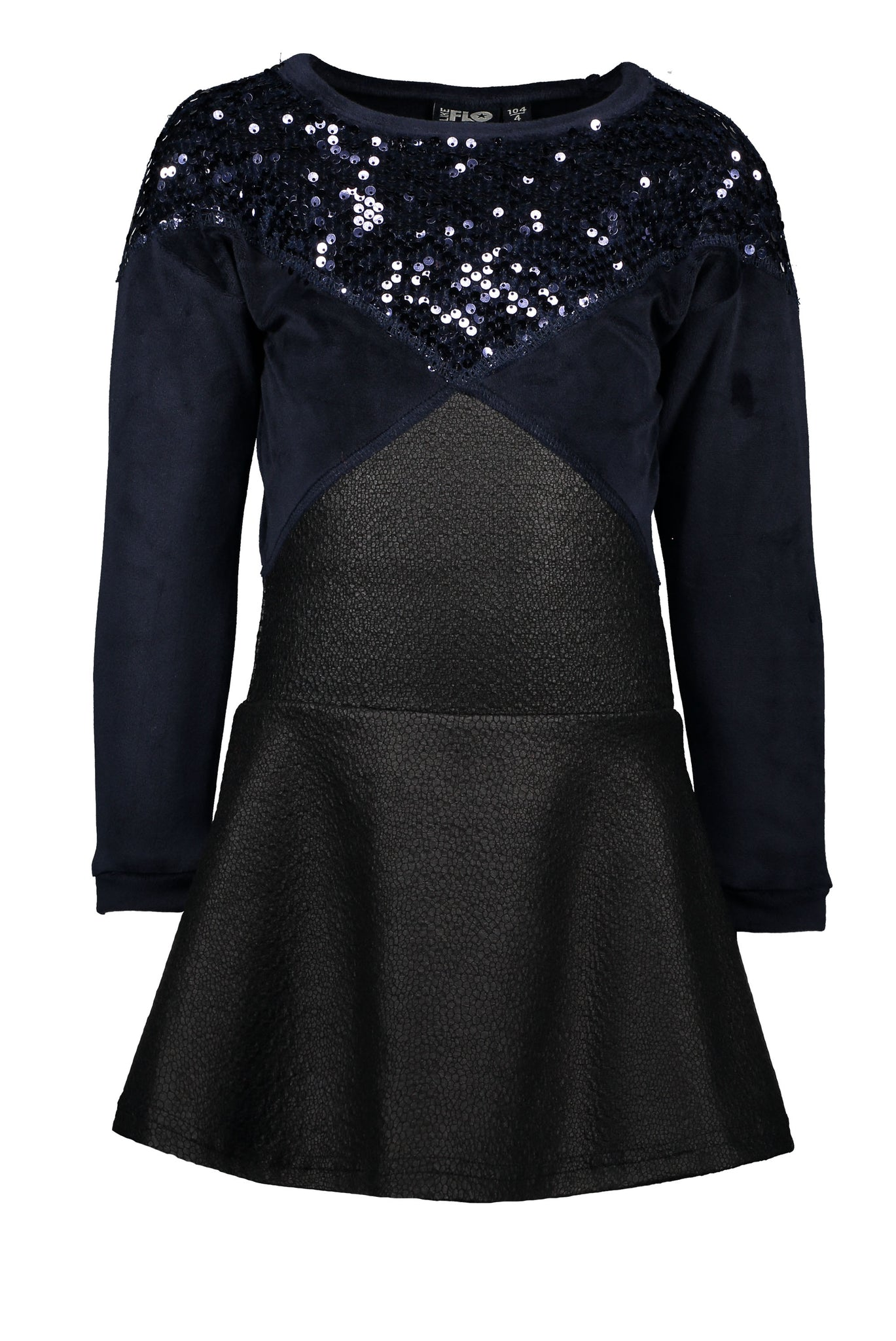 FLO Girls Dress with Sequin