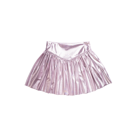 Imoga Metallic Pleated Girls Skirt - Lavender