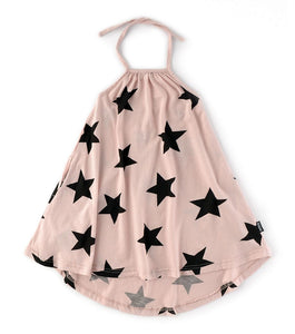 Nununu Star Dress - Powder Pink