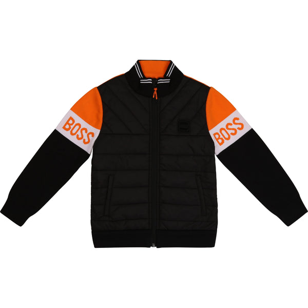 BOSS Kidswear Black & Orange Jacket