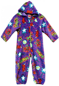 ROCK STAR FUZZY ONESIE