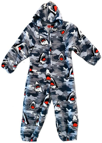 Made with Love and Kisses - Grey Sharks Onesie
