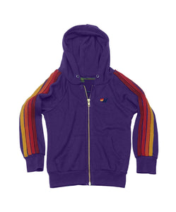 Aviator Nation KID'S CLASSIC HOODIE - PURPLE // RED STRIPES