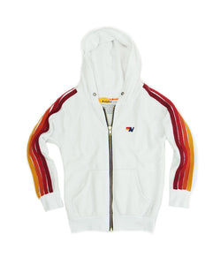 Aviator Nation KID'S CLASSIC HOODIE - WHITE // RED STRIPES