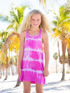 LIMEAPPLE PINK TIE DYE SWIM COVER-UP